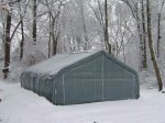 MDM Portable Garages in the Snow