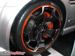 Pontiac G6 Up Close - Orange Lipped Rims - SEMA 2008