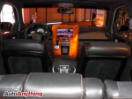 Custom LCD Screen with Hot Orange Dash Trim - SEMA 2008