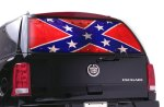 Window Canvas Confederate Flag Graphic