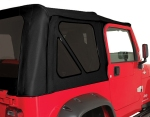 Rampage Jeep Soft Top - Denim Fabric in Black