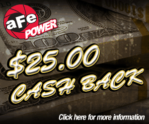 $25 Rebate on AFE Stage 2 Intakes, Blade Runner Manifold & Exhaust Systems