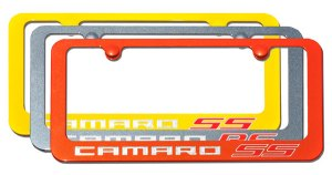 Elite Automotive Camaro Paint-Matched License Plate Frames