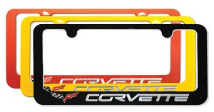 Elite Automotive Corvette Paint-Matched License Plate Frames